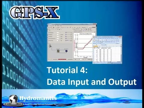 GPS-X Tutorial 4: Data Input & Output
