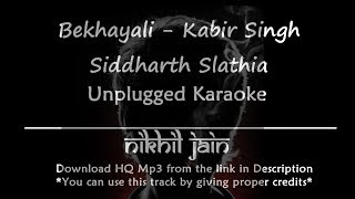 Bekhayali | Kabir Singh | Siddharth Slathia | Unplugged Karaoke | Piano Karaoke with lyrics