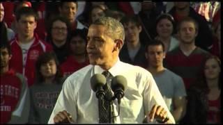 Obama Urges College Students in Ohio to Vote