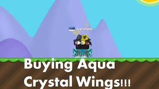 Growtopia | Buying Aqua Crystal Wings!