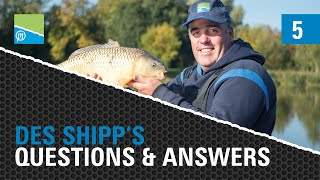 A thumbnail for the match fishing video The Des Shipp Q&A - Episode FIVE