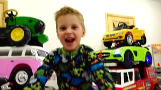 Little Max ride on cars and Magic transform colored Toy Cars