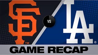 Beaty, Seager power Dodgers to 5-0 win | Giants-Dodgers Game Highlights 9/8/19