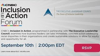 WATCH LIVE: CNBC Inclusion in Action Forum — 9/10/2020