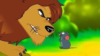 Le Lion et Le Rat   Fable de La Fontaine    dessin animé en français avec les P'tits z'Amis