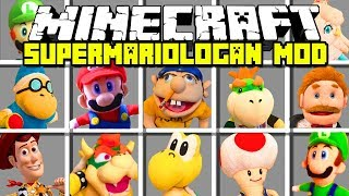 Minecraft SuperMarioLogan Mod! | Jeffy, Mario, Luigi, Bowser, & More | Modded Minigame