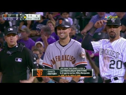 Joe Panik's Franchise Record 12 Hits in a 3-Game Series