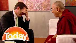 Karl tries a very bad gag on the Dalai Lama - it doesn't go well!