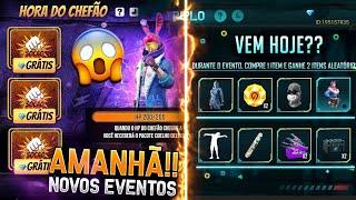 AMANHÃ!! NOVO EVENTO COM COELHO DELINQUENTE, COMBO TRIPLO DE VOLTA, SUPERMERCADO E MAIS - FREE FIRE
