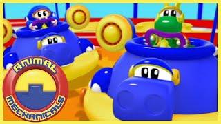 🐸🤖 Animal Mechanicals 🐸🤖 Hippo Hovercraft Island 117 🐸🤖 Full Episode HD 🐸🤖
