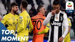 Ronaldo's Penalty SAVED by Sorrentino! | Juventus 3-0 Chievo | Top Moment | Serie A