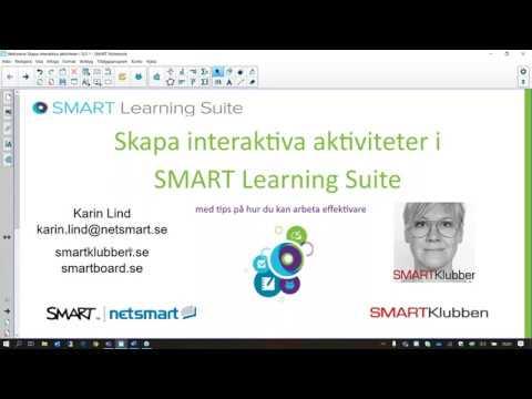 Skapa interaktiva aktiviteter i SMART Learning Suite med tips på hur du kan arbeta effektivare
