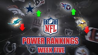 NFL Week 5 Power Rankings | The Dolphins True Colors, What's Wrong With MIN, & Trubisky Goes Off