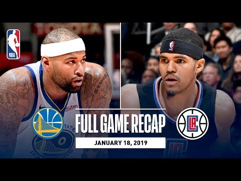 Full Game Recap: Warriors vs Clippers | DeMarcus Cousins' First Game With Golden State