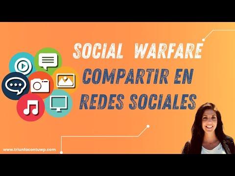 ➤ [ SOCIAL WARFARE ] plugin para compartir en redes sociales 📉