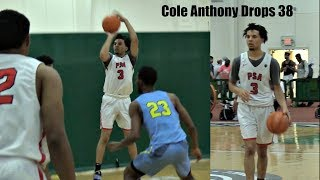 Cole Anthony SNAPS!! 38 Point Game vs Team Final (EYBL Session 4)
