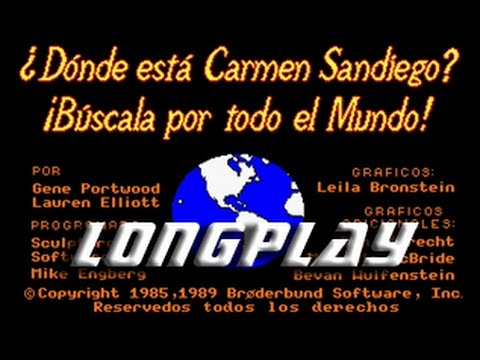 ¿Donde está Carmen San Diego? ¡Búscala por todo el mundo! (Commodore Amiga) Longplay