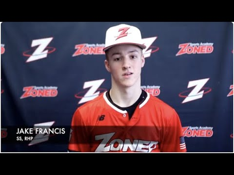Jake Francis College Baseball Recruiting Video-Class of 2023