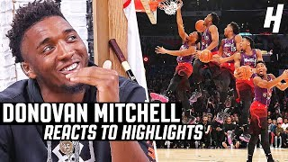 Donovan Mitchell Reacts to Donovan Mitchell Highlights
