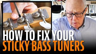 Watch the Trade Secrets Video, How to fix sticky bass tuners