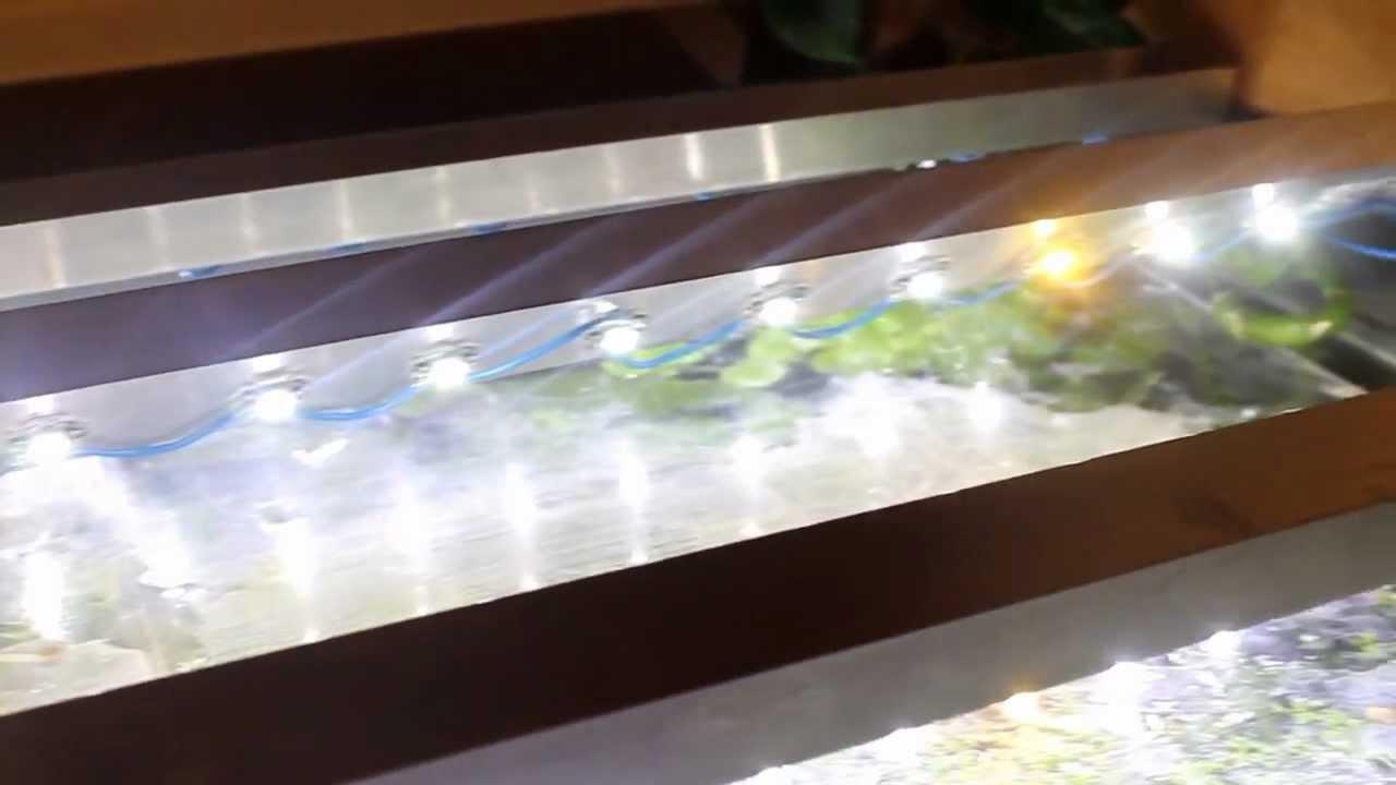 led beleuchtung ber gr eren aquarium youtube. Black Bedroom Furniture Sets. Home Design Ideas