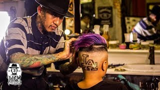 LA Tattoo Hair and Galaxy Colour for dope kid   Liem Barber Shop's Collection