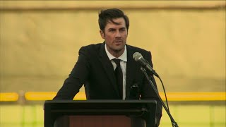 'He Exemplified The Best': Cole Hamels Remembers Roy Halladay During Memorial Service