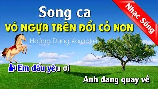 Vó Ngựa Trên Đồi Cỏ Non Karaoke Nhạc Sống Cha Cha Cha - Vo ngua tren doi co non karaoke song ca
