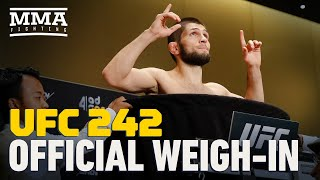 UFC 242 Official Weigh-In Highlights - MMA Fighting