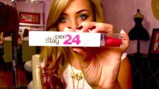 24 hour lipstick review & demo!