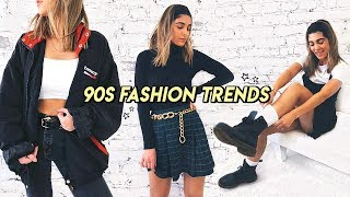HOW TO STYLE 90s TRENDS IN 2019 ☆ mom jeans, plaid skirts, doc martens, etc!