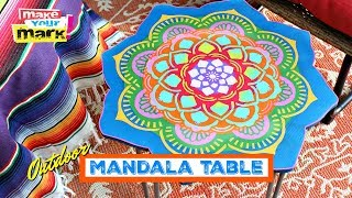 Colorful Mandala Side Table DIY