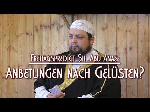 ANBETUNGEN NACH GELÜSTEN? mit Sh. Abu Anas am 22.05.2015 in Braunschweig