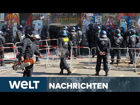 #Rigaer94 - BAMBULE in BERLIN: Polizei verschafft sich gewaltsam Zutritt zum Haus | WELT Newsstream