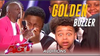 Detroit Youth Choir: Terry Crews In TEARS As He Hits The Golden Buzzer! | America's Got Talent 2019