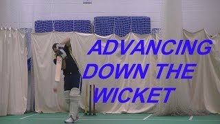 HD Cricket Video Batting Tips How To Come Down The Wicket Michael Clarke Style