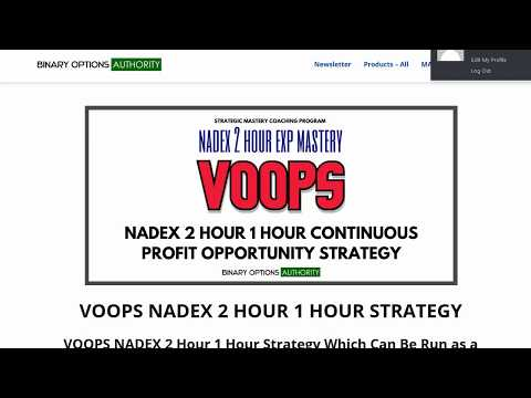 VOOPS NADEX 2 Hour 1 Hour Cash Flow Strategy & System Review