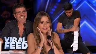 INCREDIBLE Magician Uses Cards To Express Emotion on America's Got Talent | VIRAL FEED