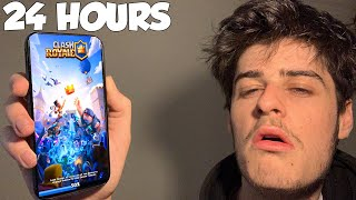 I Spent 24 Hours Playing Clash Royale AGAIN