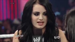 AJ Lee vs  Paige's Raw Debut Title Match