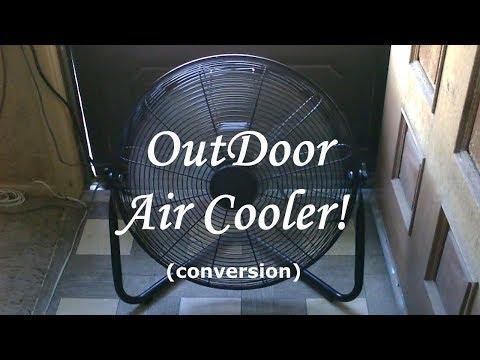 High-Velocity Evap. Cooling Fan! (w/mist) - garage cooling! - Large Area Cooler! - ez DIY!