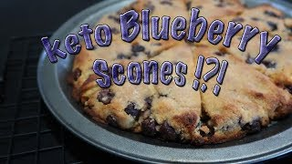 BEST KETO BLUEBERRY SCONES recipe   low carb, grain free, sugar free, ketogenic  