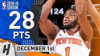 Emmanuel Mudiay Full Highlights Knicks vs Bucks 2018.12.01 - 28 Pts, 3 Reb, 7 Ast!