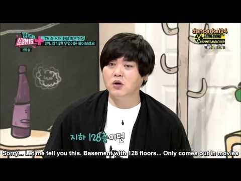 [Eng Sub HD] 140625 EXO - Members' Height & SM Basement 128 Floors