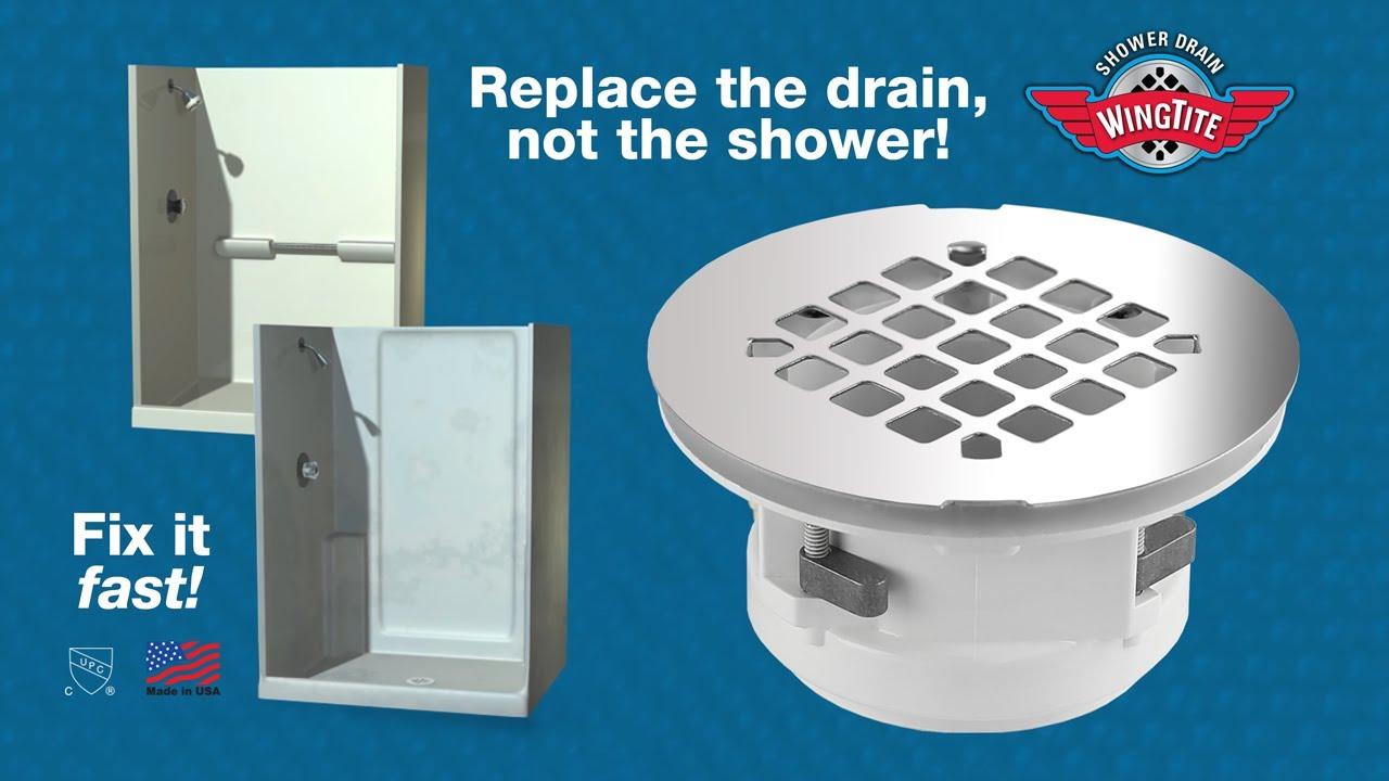 Wingtite Fix Leaking Shower Drain Youtube