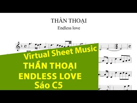 Sheet music: Thần thoại (Endless love) - Flute