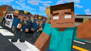 MONSTER SCHOOL HEROBRINE DETAINED FOR MAGIC WAND MAGIC OUTSIDE OF HOGWARTS MINECRAFT ANIMATION