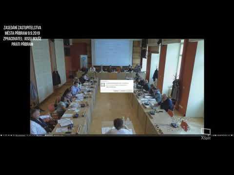 Zasedání zastupitelstva města Příbram 9.9.2019