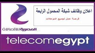 وظائف شبكة المحمول الرابعة المصرية للاتصالات لجم ...