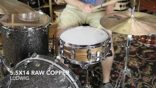 Ludwig 5.5x14 Raw Copper vs 6 5x14 Raw Copper